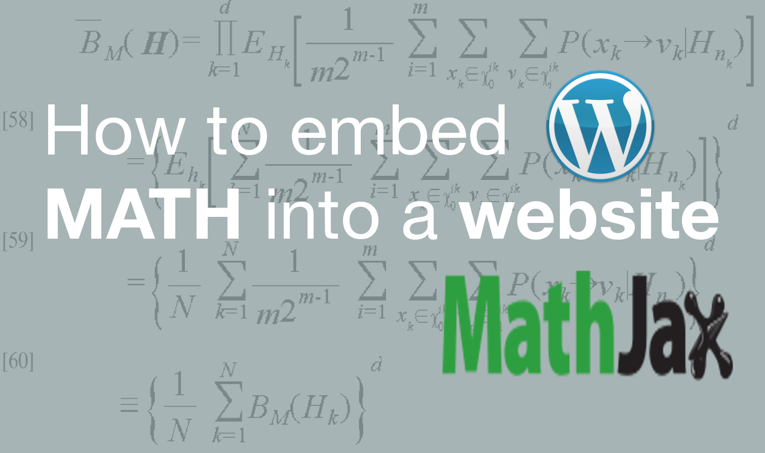 How to embed math into a website