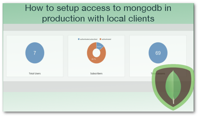 How to setup access to mongodb in production with local clients