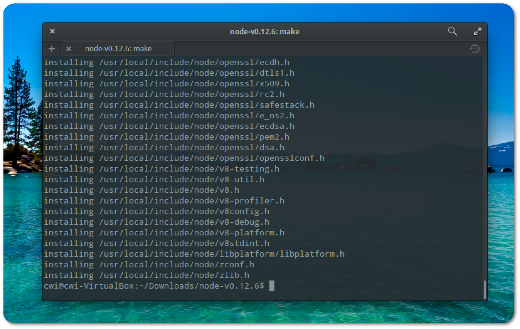 install nodejs 8.12 ubuntu