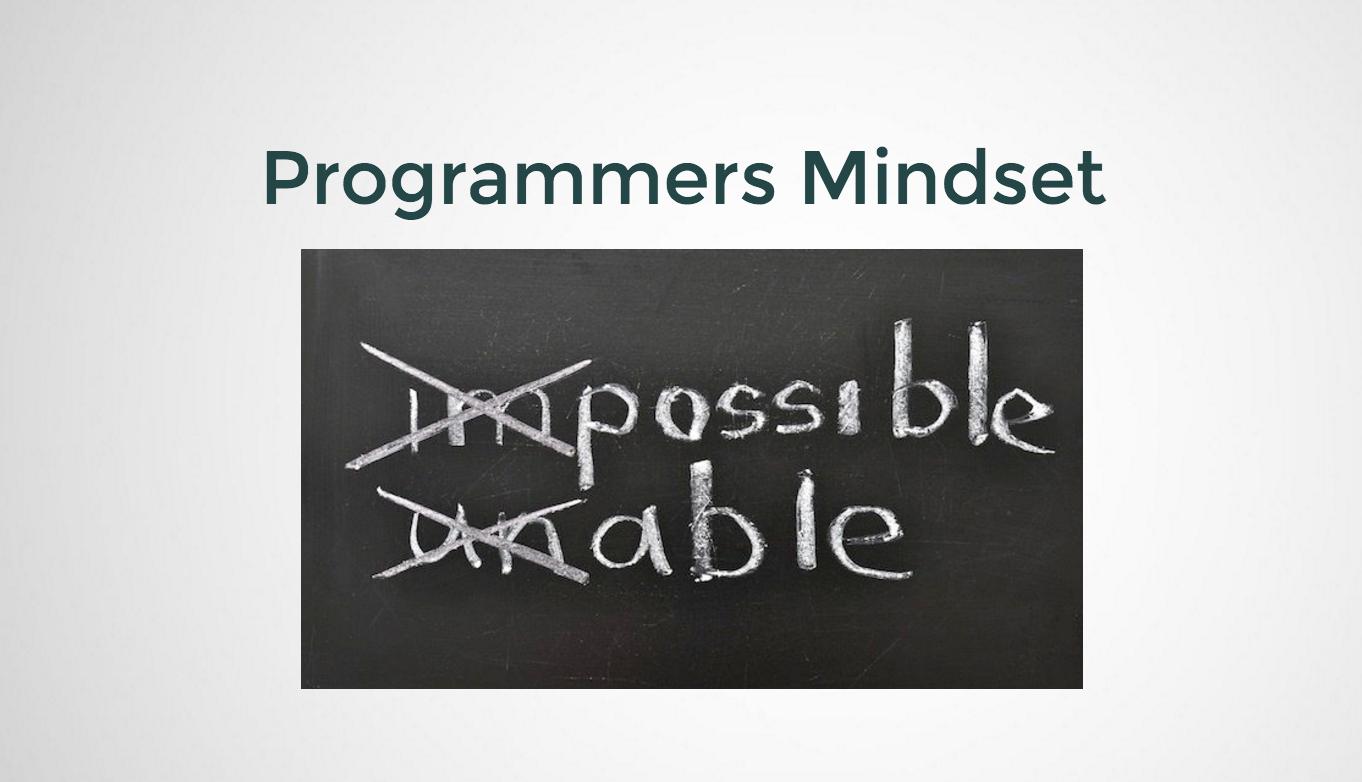 The Programmers Mindset
