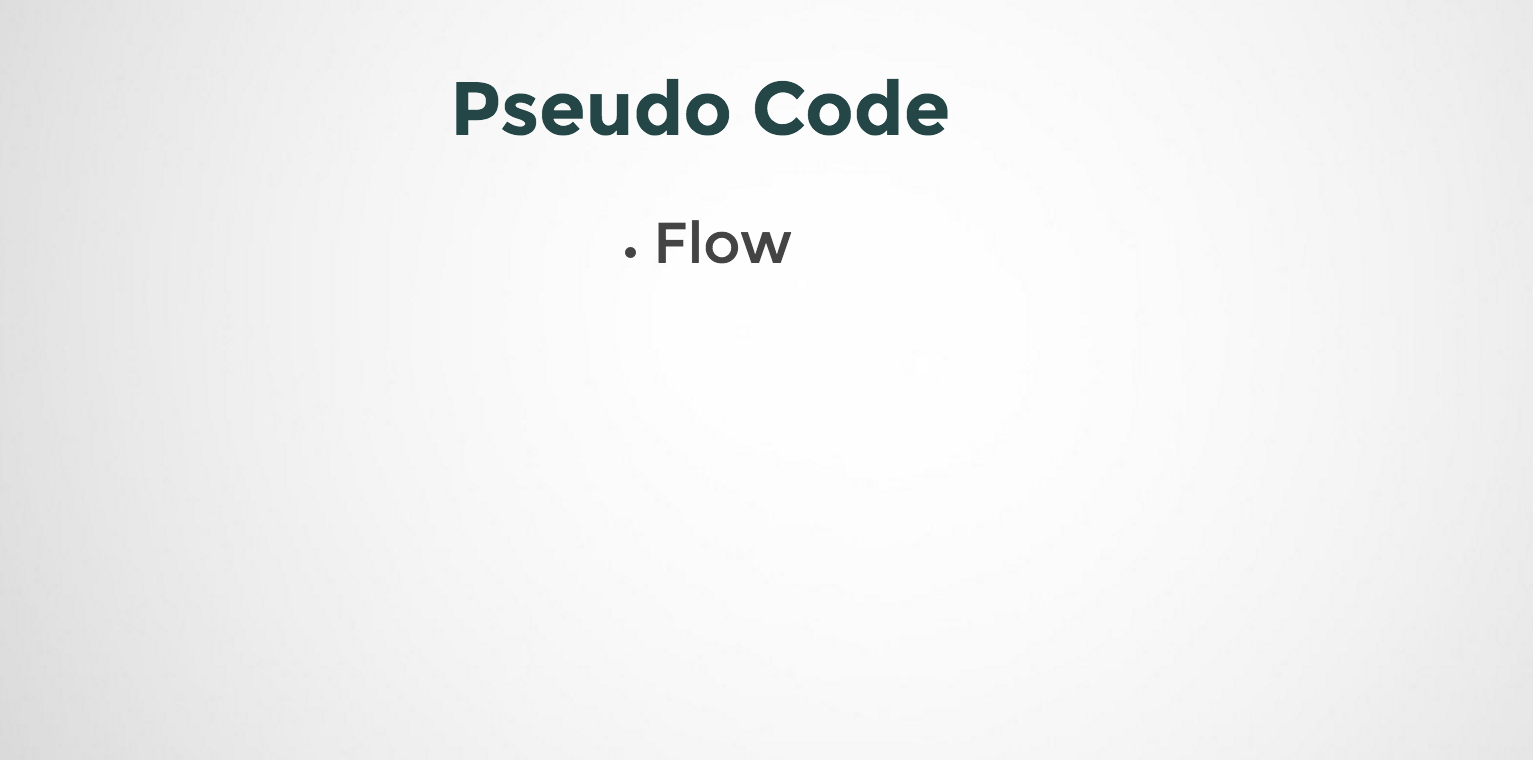 How to Flow in Pseudo Code